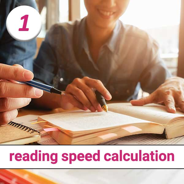 formula to calculate reading speed
